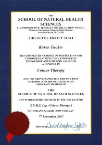 Colour Therapy diploma