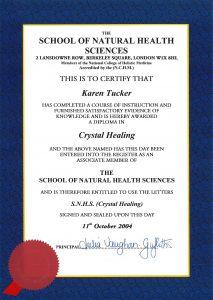 Crystal healing diploma