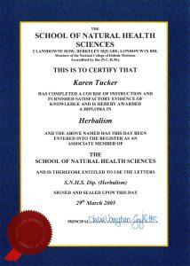 Herbalism diploma