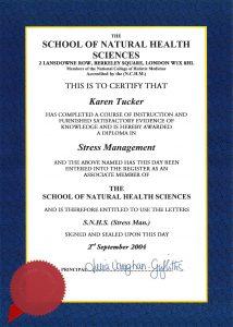 Stress Management diploma