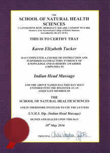 Indian Head Massage Diploma