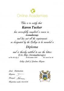 Aromatherapy diploma